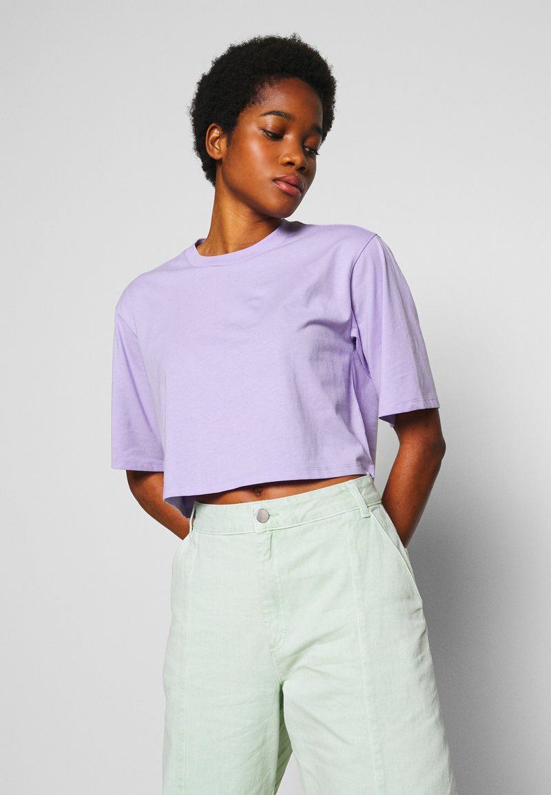 Monki - ELINA TOP 2 PACK - Basic T-shirt - lilac/white