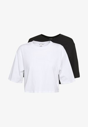 ELINA TOP 2 PACK - T-shirt basique - black/white