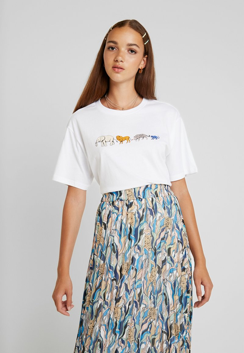 Monki - TOVI TEE - T-Shirt print - white