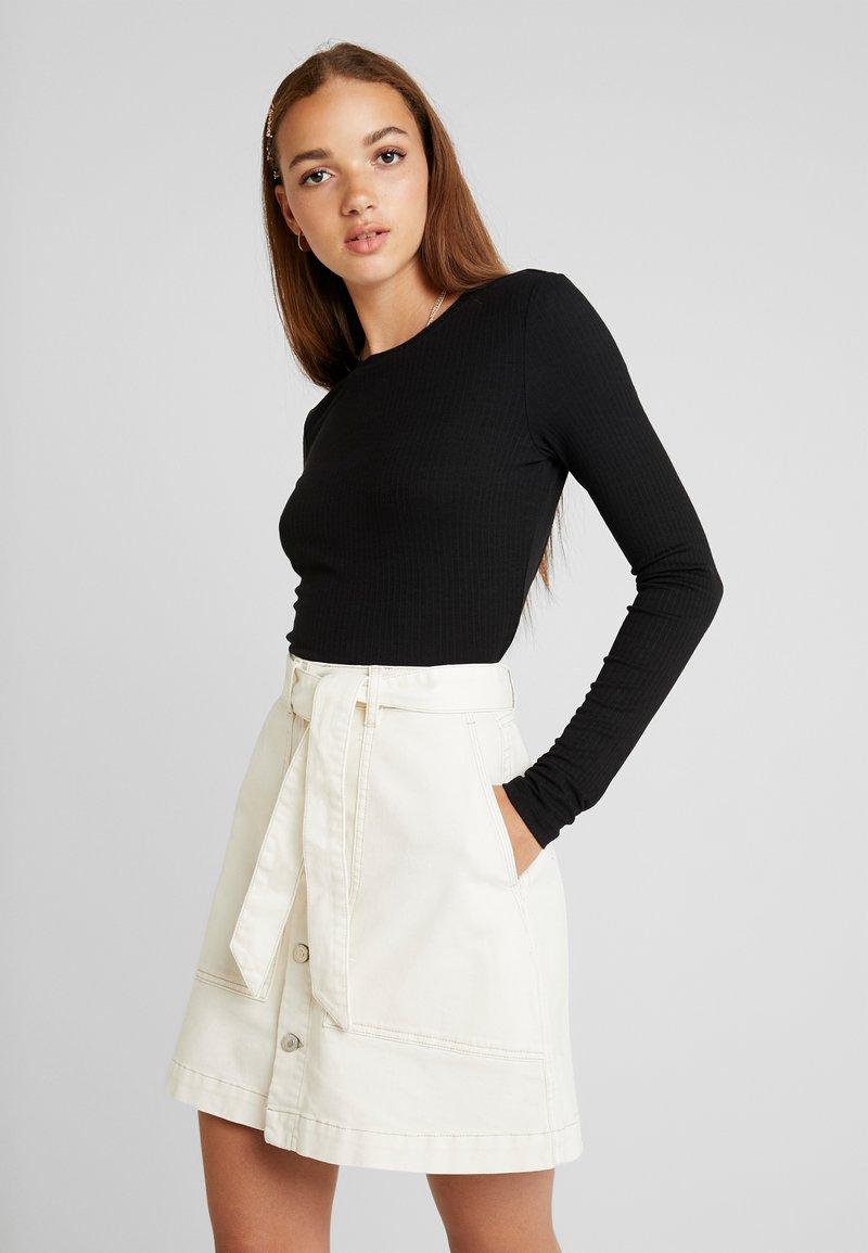 Monki - LILIANA - Long sleeved top - black