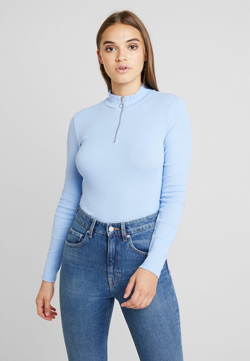 Monki - KIM ZIP - Long sleeved top - soft blue
