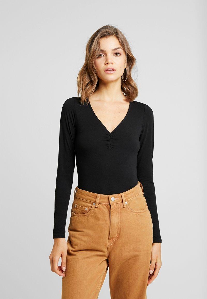 Monki - ZOE BODY - Long sleeved top - black