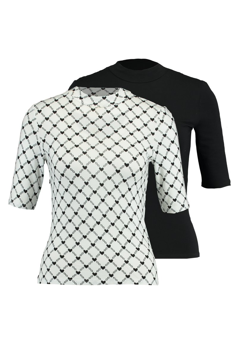 Monki - SABRINA UNIQUE 2 PACK - T-shirts print - white/black