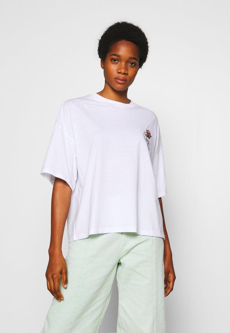 Monki - DAMALI  - T-shirt print - white