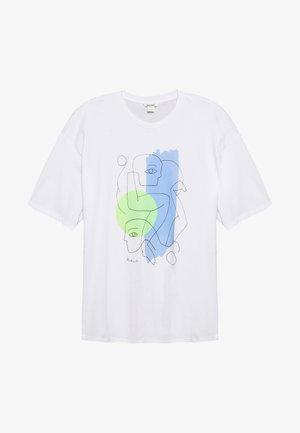 CISSI TEE - Print T-shirt - off-white