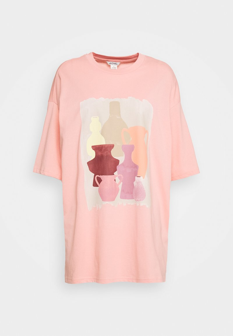 Monki - CISSI TEE - T-shirts med print - pink