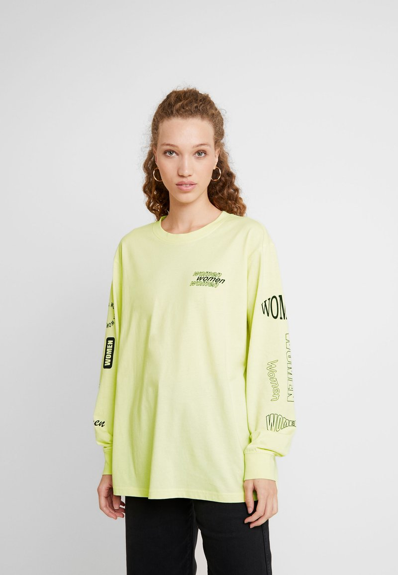 Monki - KLARA - Maglietta a manica lunga - yellow light