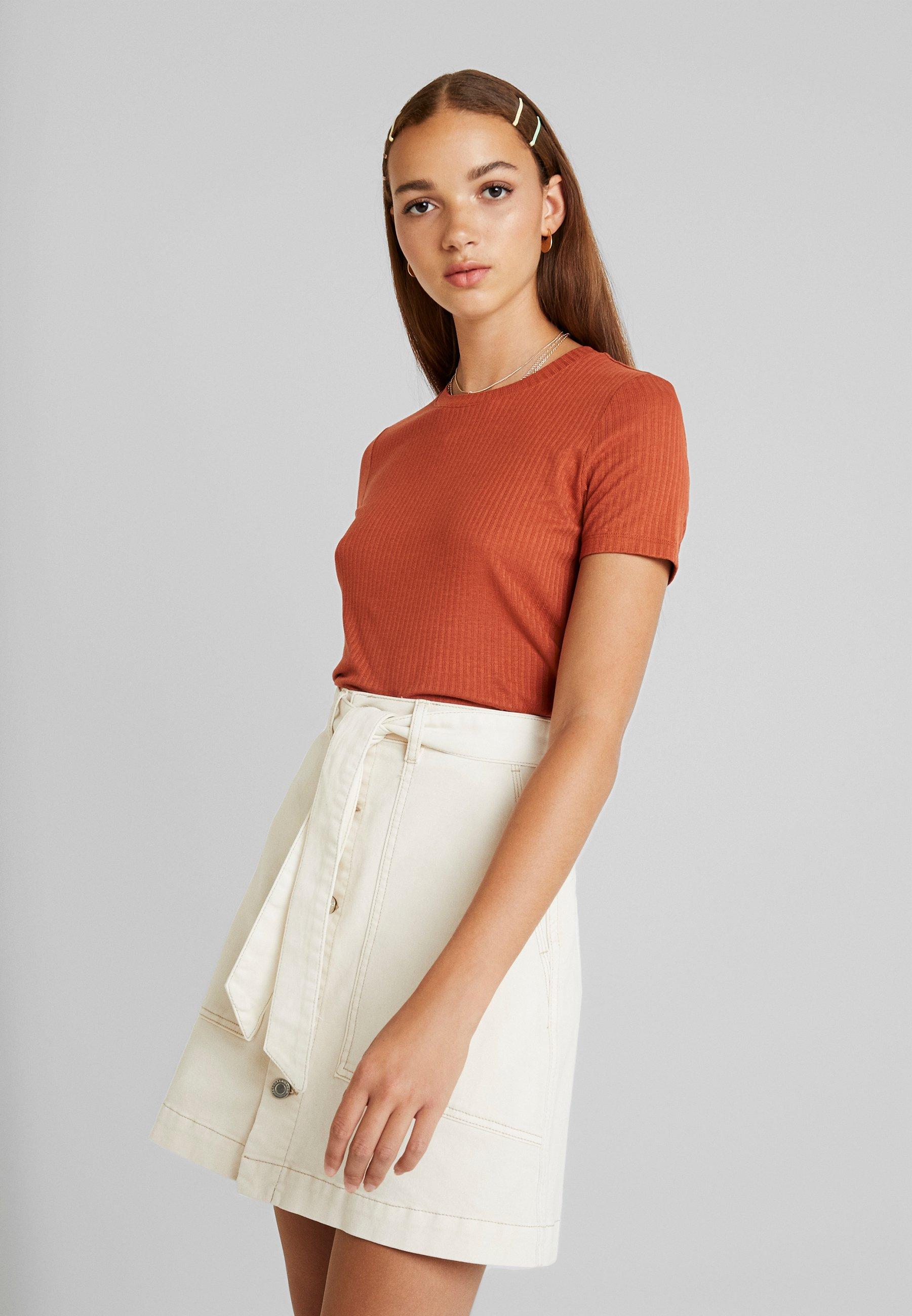 Orange LilianT shirt Monki Basique Dark Yf7yvIb6gm