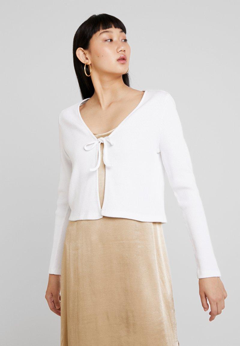 Monki - MATHILDA CARDIGAN - Cardigan - white light