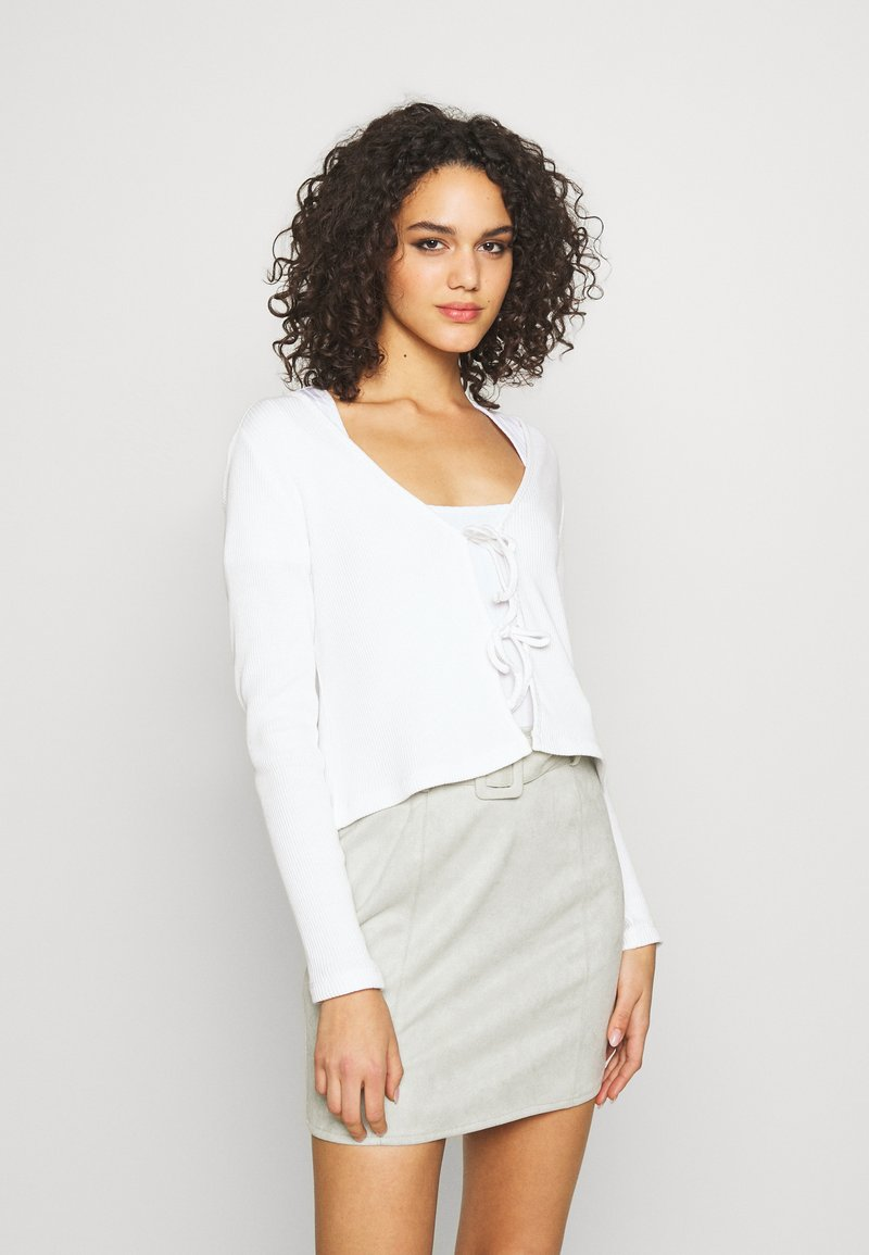 Monki - MATHILDA CARDIGAN - Cardigan - white