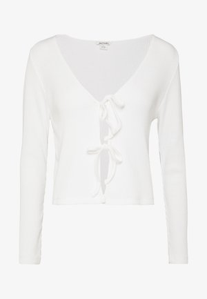 MATHILDA CARDIGAN - Strickjacke - white