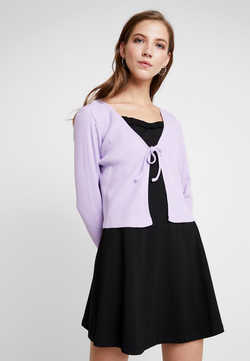 Monki - MATHILDA CARDIGAN - Vest - purple