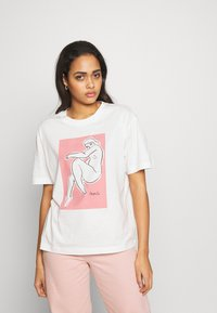 Monki - TOVI TEE - T-shirts med print - white light unique - 0