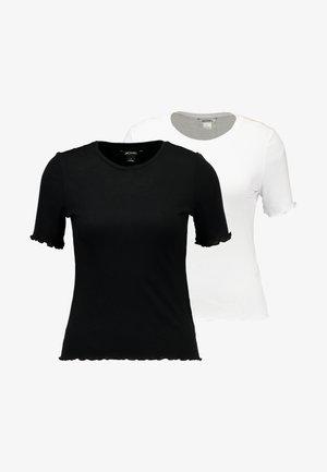 PETRONELLA TEE 2 PACK - T-shirt basic - white/black