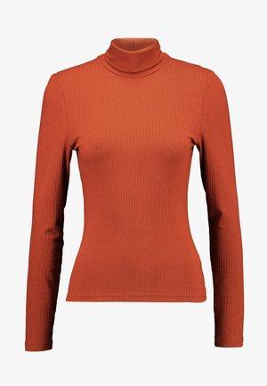 ELIN - Topper langermet - orange dark rost