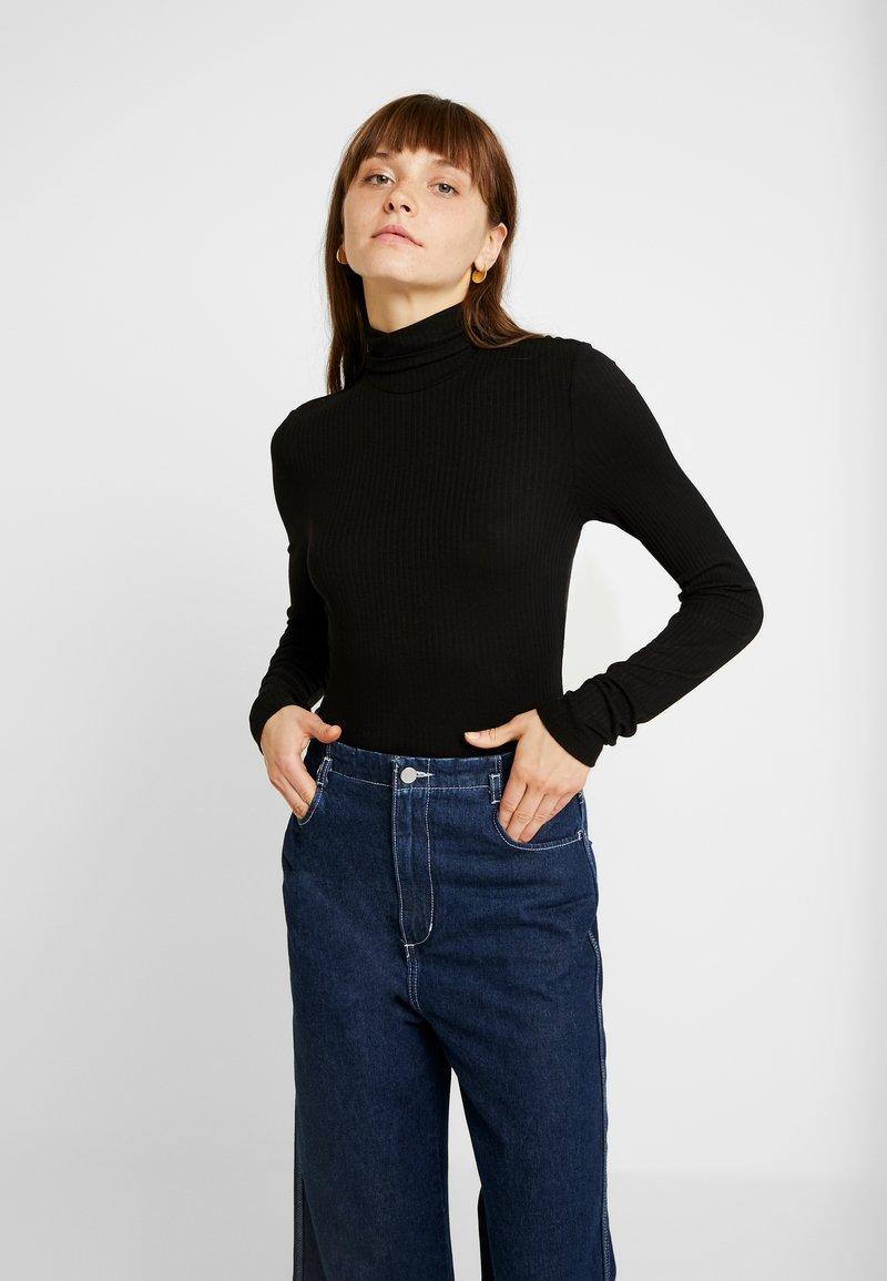 Monki - ELIN - T-shirt à manches longues - black dark
