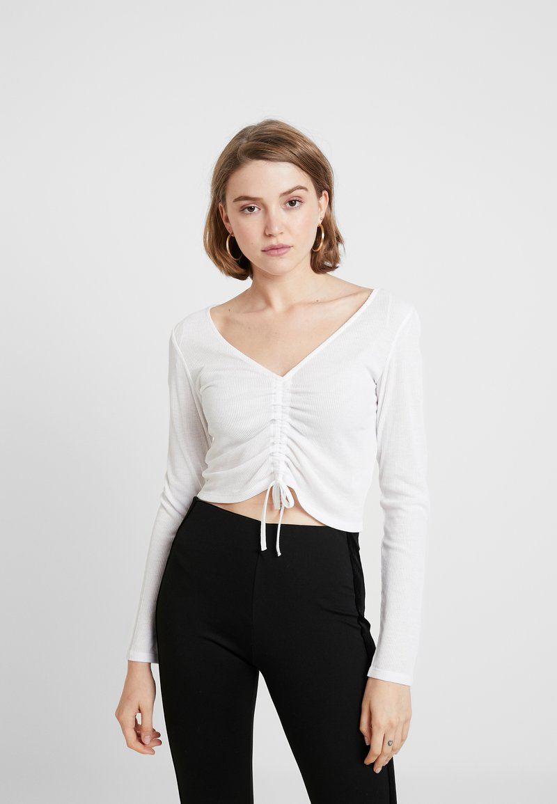 Monki - OLLE - Langarmshirt - white