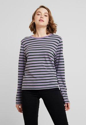 URSULA - Long sleeved top - purple/black