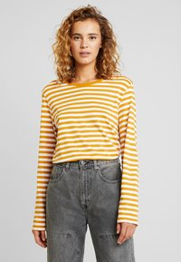 Monki - URSULA - T-shirt à manches longues - black/white /yellow - 2