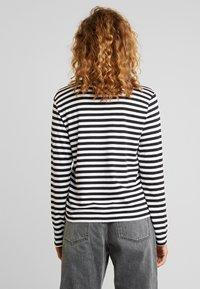 Monki - URSULA - T-shirt à manches longues - black/white /yellow - 3