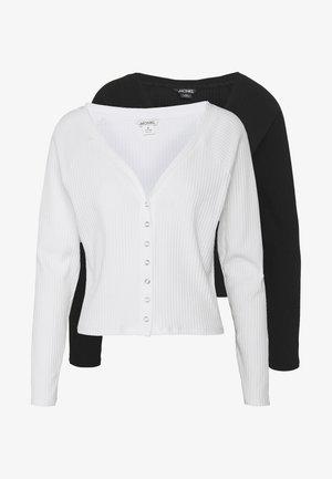 YING 2 PACK - Cardigan - black/white
