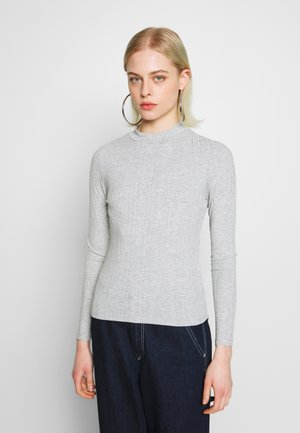SAMINA - Langærmede T-shirts - grey dusty light grey mel