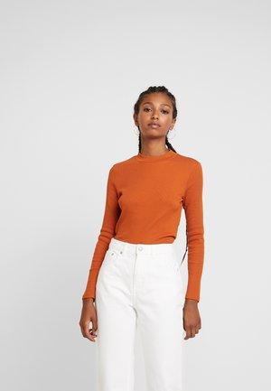 SAMINA - Topper langermet - orange dark solid