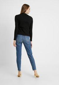 Monki - SAMINA - Long sleeved top - black dark - 2