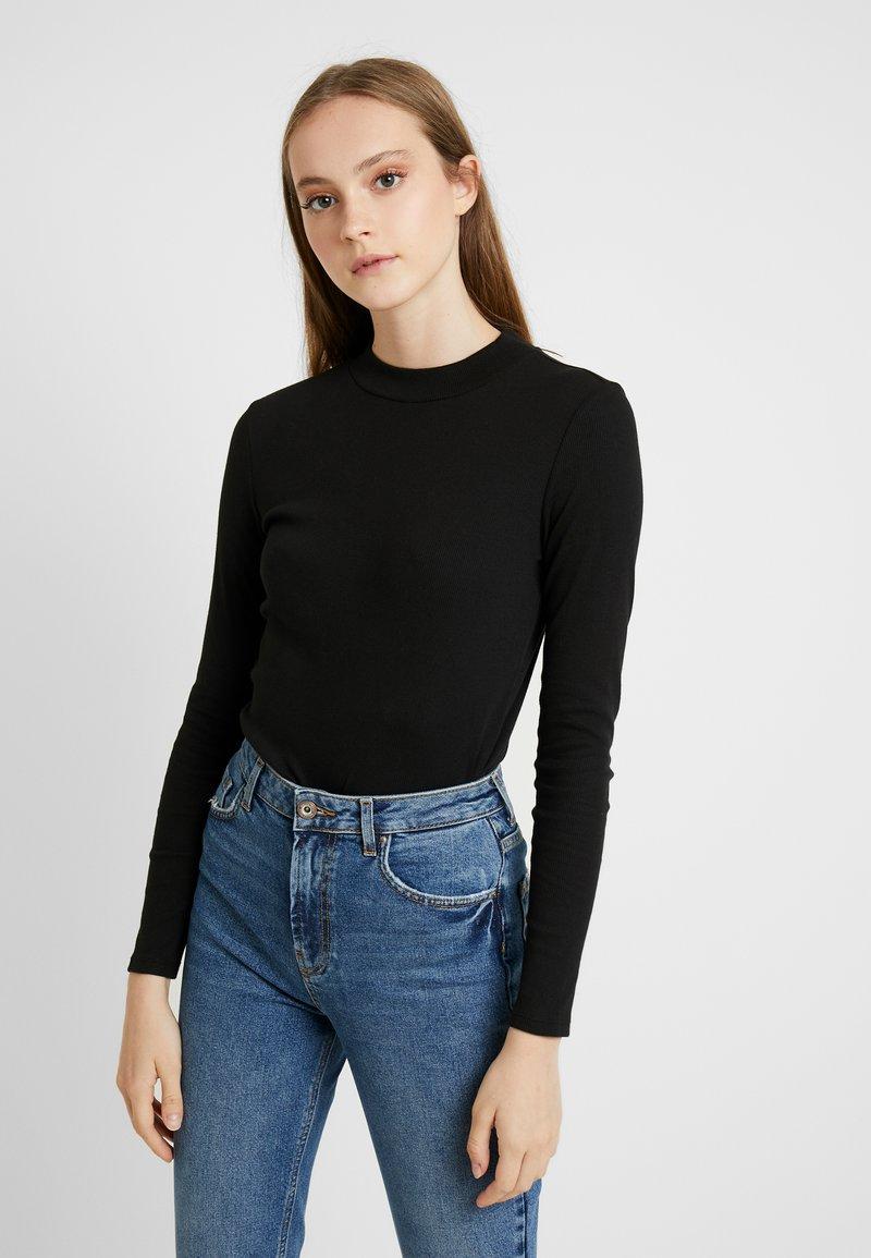 Monki - SAMINA - Long sleeved top - black dark