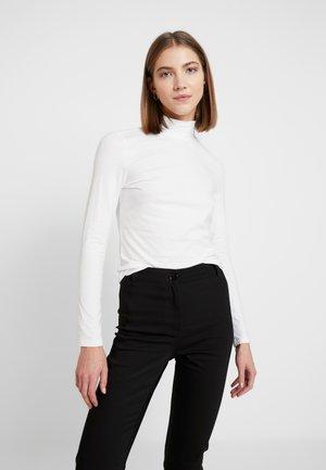 VANJA TOP URGENT - Pitkähihainen paita - white light solid white