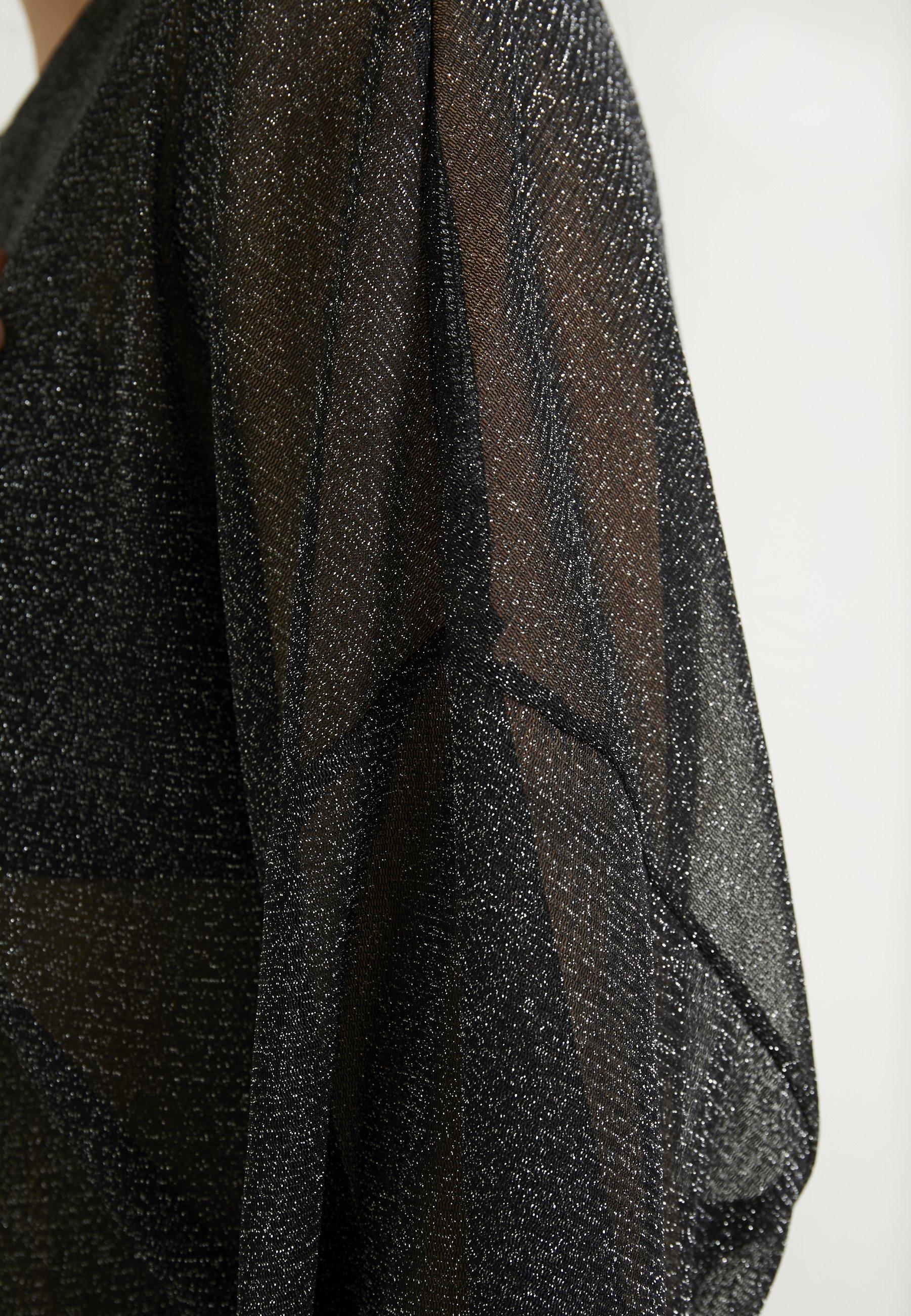Monki DAMALI - Topper - black/silver
