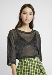 Monki - DAMALI - Toppi - black/silver - 0