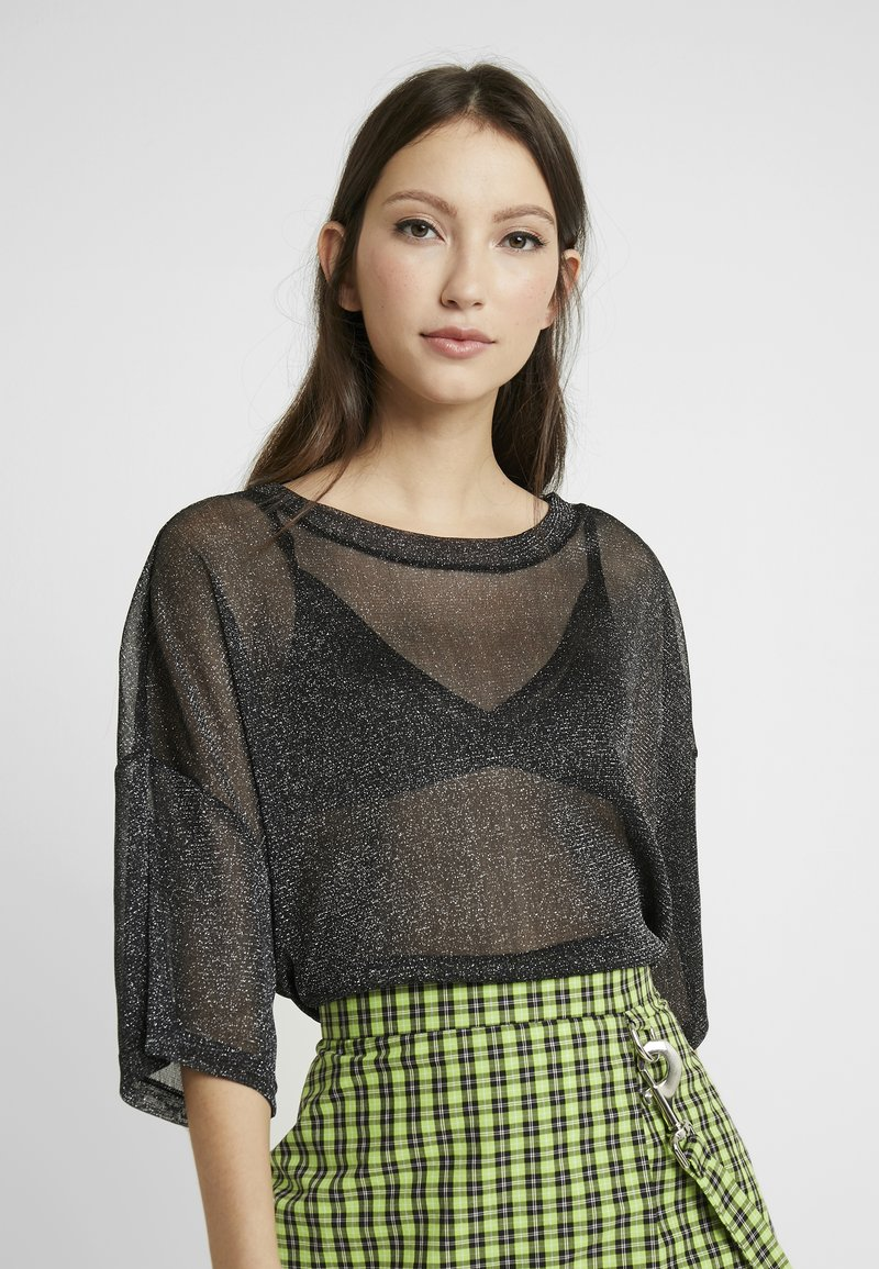 Monki - DAMALI - Toppi - black/silver