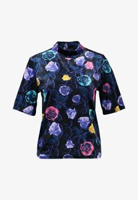 Monki - NINA - T-shirts med print - black dark - 4