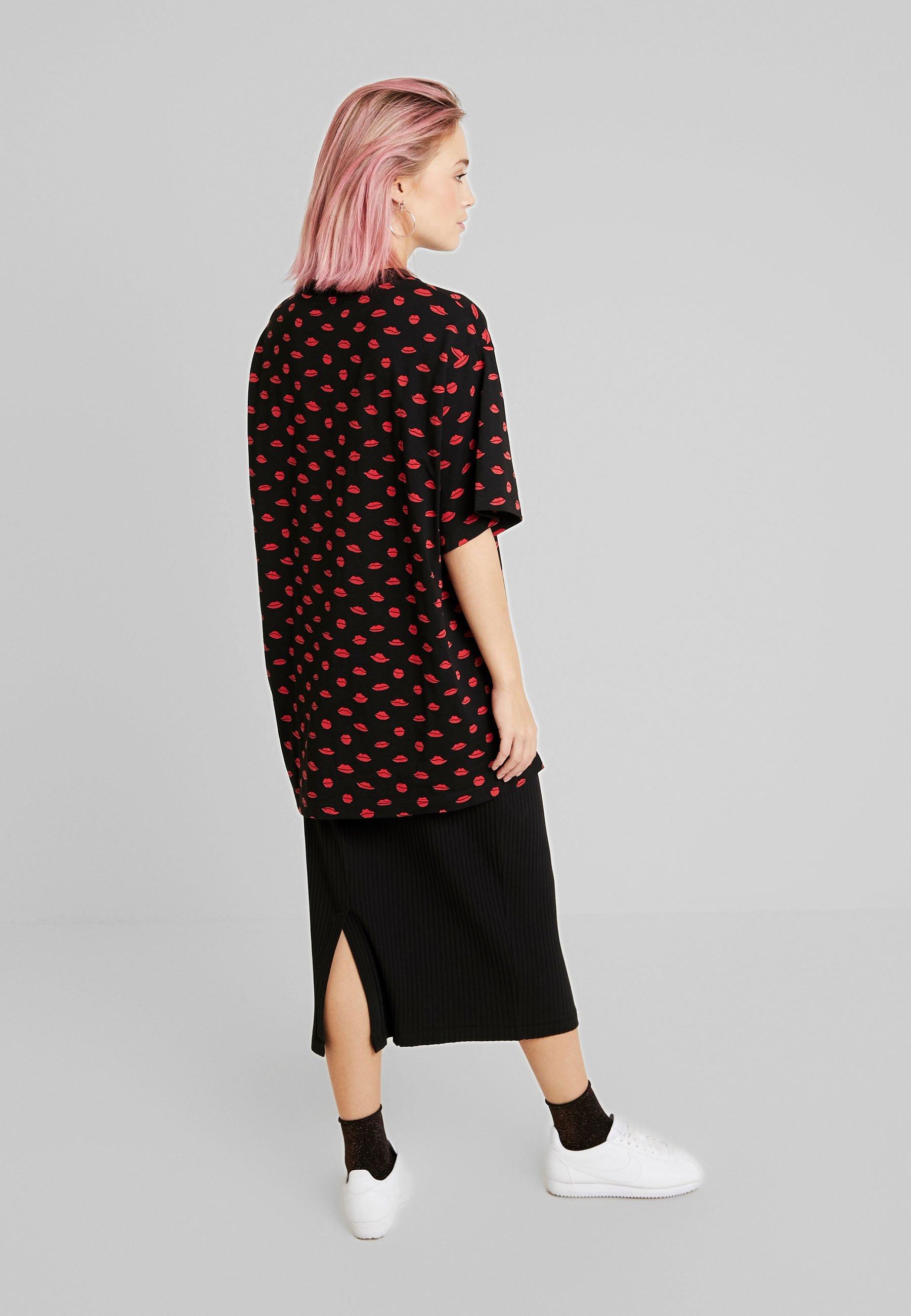 Monki TORI TEE - T-shirts med print - black