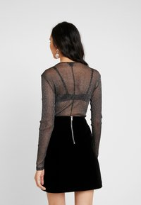 Monki - JONA BODY - Top s dlouhým rukávem - black dark - 2