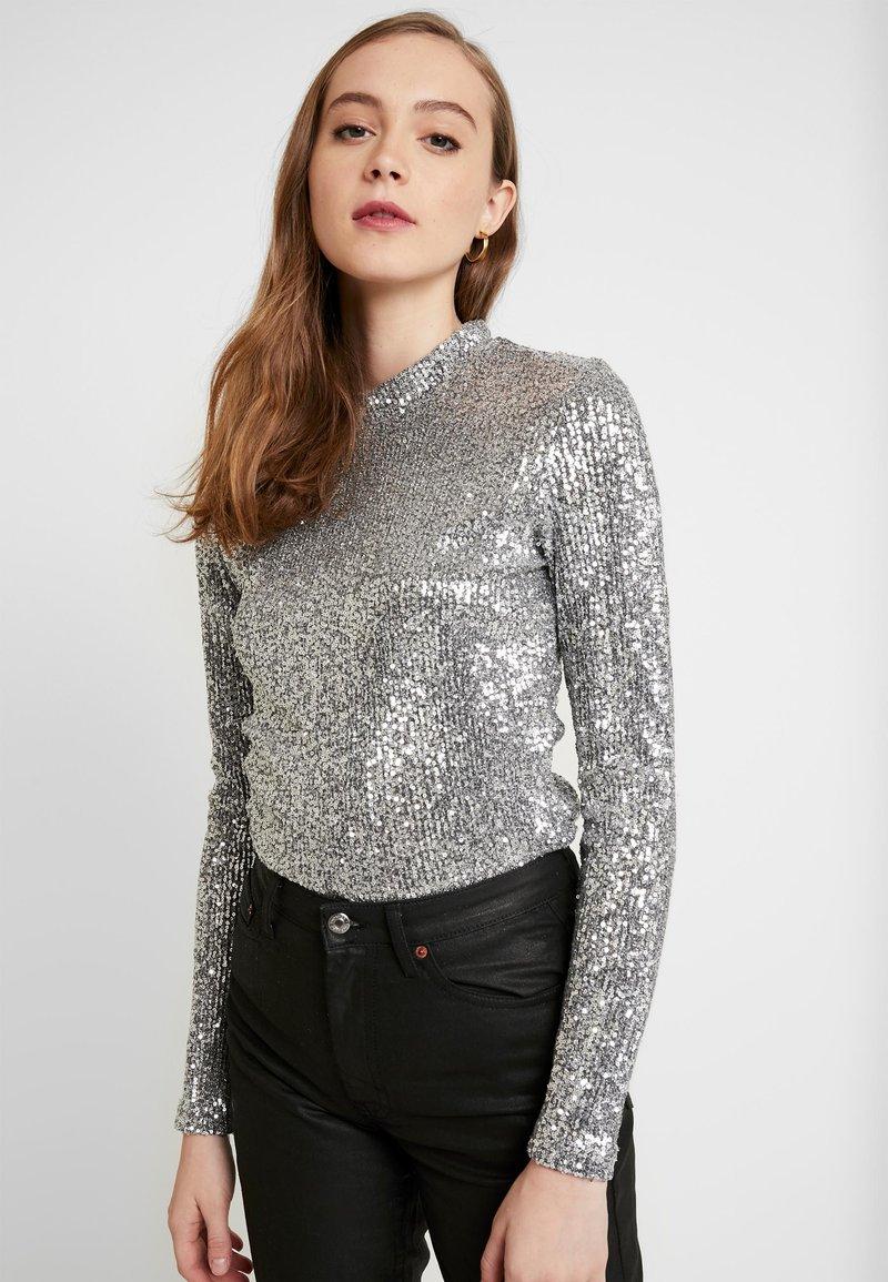 Monki - ELIN - Long sleeved top - silver