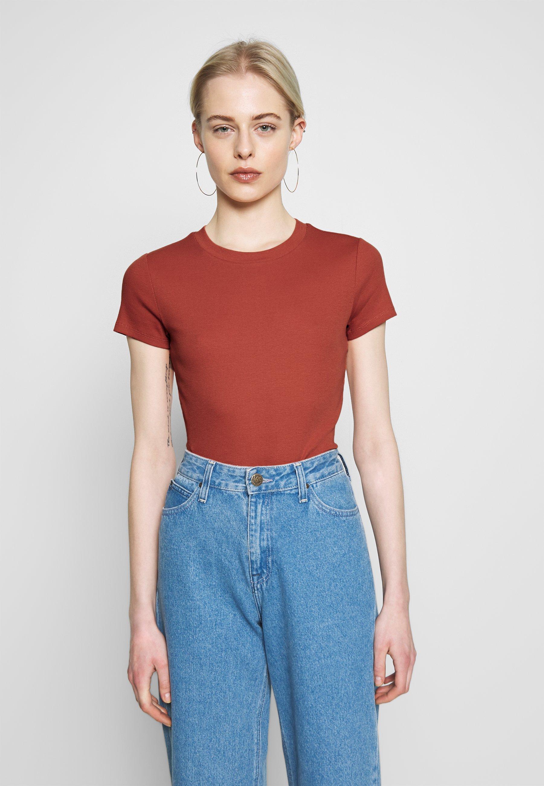 Monki MAGDALENA TEE - T-shirt basic - orange