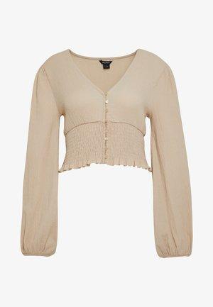 ZOEY - Long sleeved top - white dusty beige