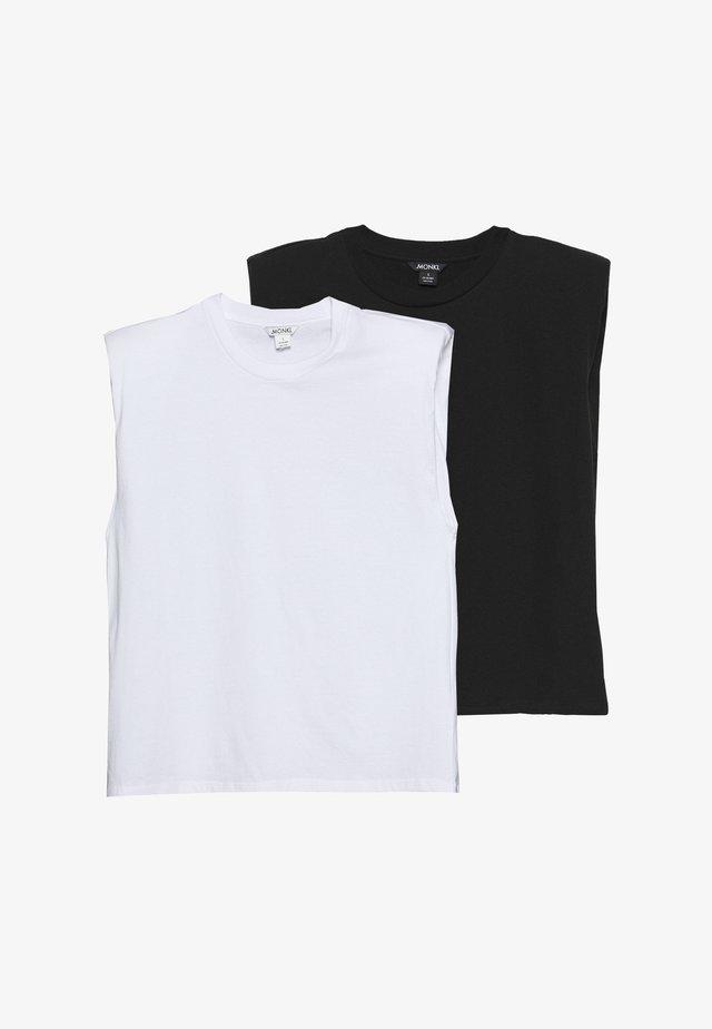BIANCA 2 PACK - Top - white/black