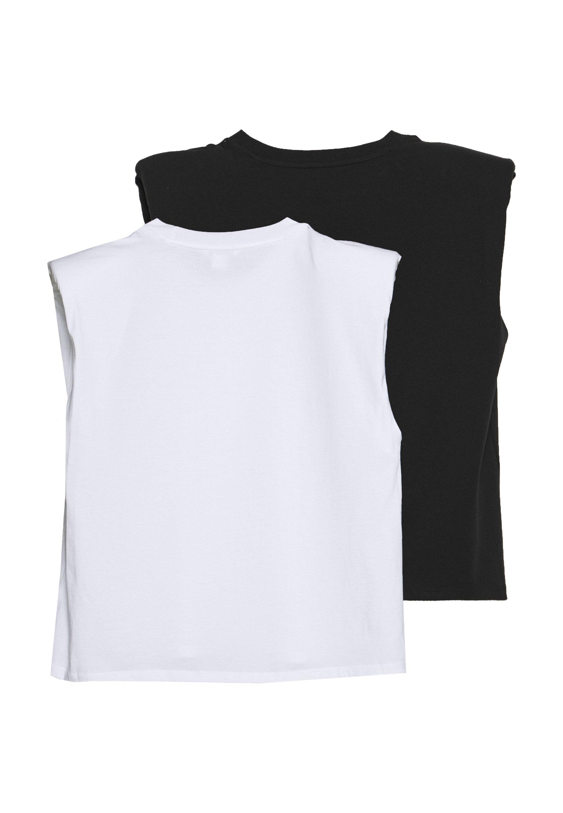 Monki BIANCA 2 PACK - Top - white/black