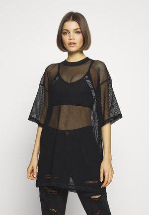 CISSI NET TEE - Print T-shirt - black net quality black