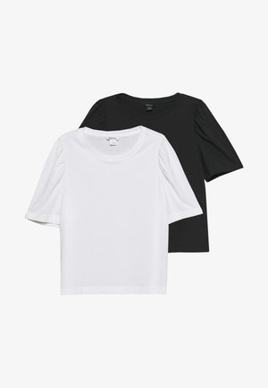 TUGBA TEE 2 PACK - Camiseta básica - black dark/white light