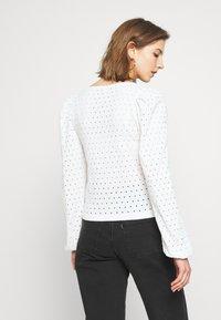 Monki - VIBEKE - Long sleeved top - white - 2