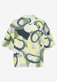 Monki - INA 2 PACK  - T-shirt basic - yellow/khaki green - 1
