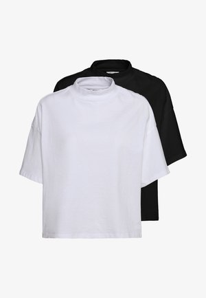 INA 2 PACK  - Basic T-shirt - black/white