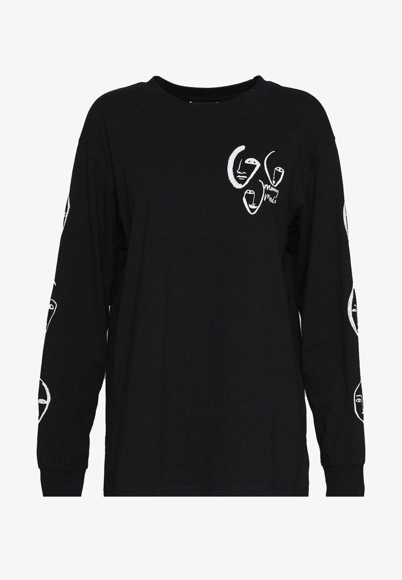 Monki - KLARA - Maglietta a manica lunga - black