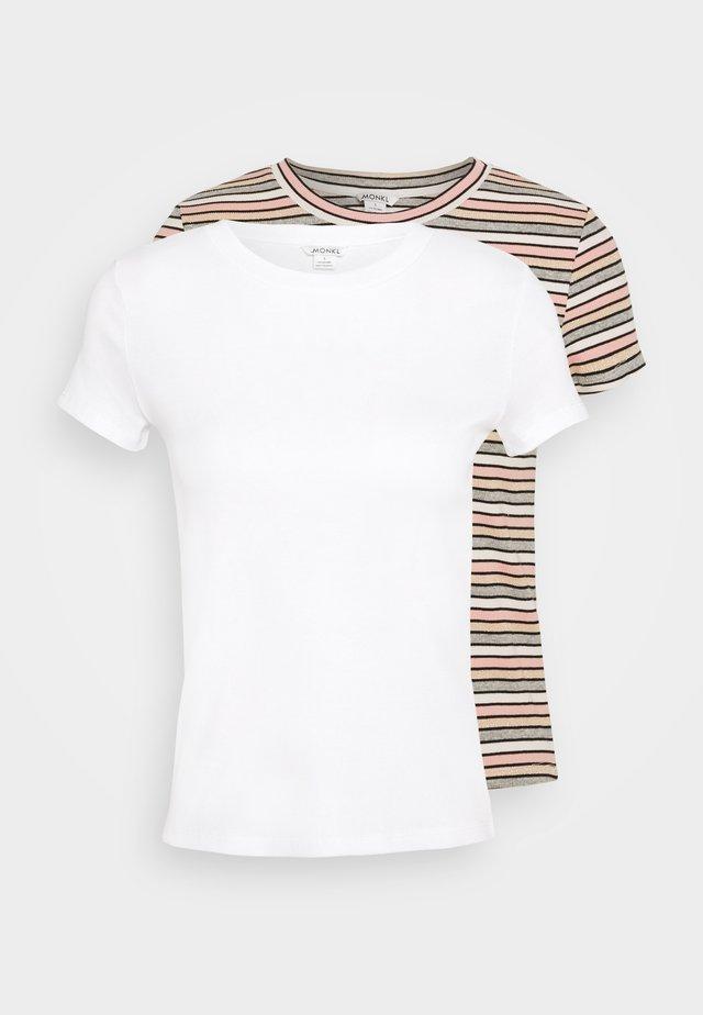 MAGDALENA TEE 2 PACK - Print T-shirt - white dusty light/white