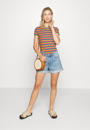 MAGDALENA TEE 2 PACK - T-shirt con stampa - red bright rainbow/white solid