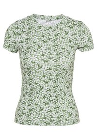 Monki - MAGDALENA TEE 2 PACK - Print T-shirt - green medium/white solid - 2